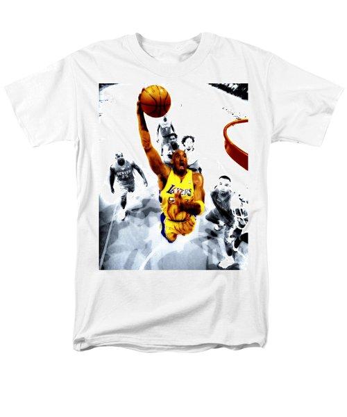 Kobe Bryant Took Flight Men's T-Shirt  (Regular Fit) by Brian Reaves