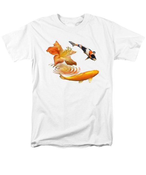 Koi With Azalea Ripples Men's T-Shirt  (Regular Fit) by Gill Billington
