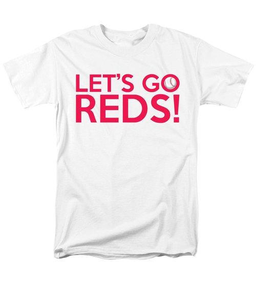 Let's Go Reds Men's T-Shirt  (Regular Fit) by Florian Rodarte