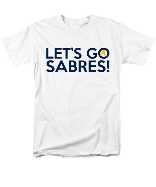 Let's Go Sabres Men's T-Shirt  (Regular Fit) by Florian Rodarte