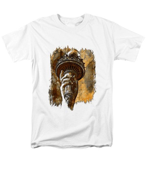 Light The Path Earthy 3 Dimensional Men's T-Shirt  (Regular Fit) by Di Designs