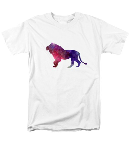 Lion 01 In Watercolor Men's T-Shirt  (Regular Fit) by Pablo Romero