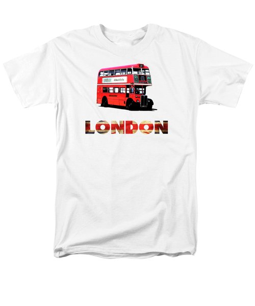 London Red Double Decker Bus Tee Men's T-Shirt  (Regular Fit) by Edward Fielding