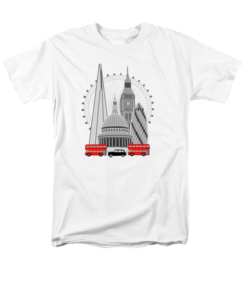 London Scene Men's T-Shirt  (Regular Fit) by Imagology Design