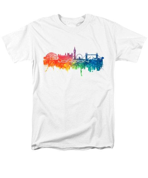 London Skyline City Color Men's T-Shirt  (Regular Fit) by Justyna JBJart