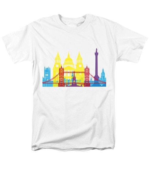 London Skyline Pop Men's T-Shirt  (Regular Fit) by Pablo Romero