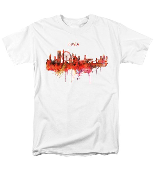 London Skyline Watercolor Men's T-Shirt  (Regular Fit) by Marian Voicu