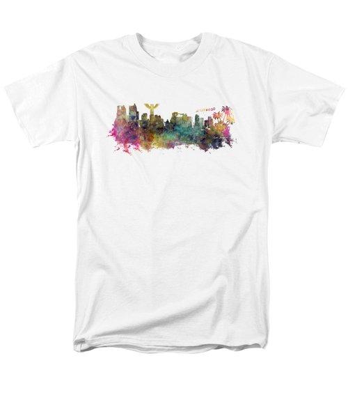 Los Angeles Skyline Men's T-Shirt  (Regular Fit) by Justyna JBJart