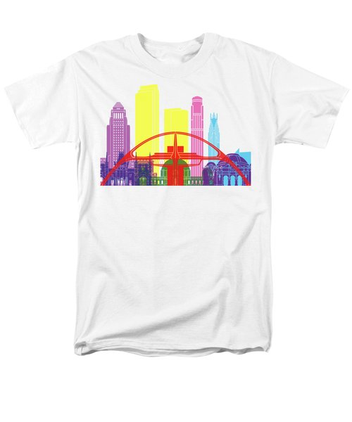 Los Angeles Skyline Pop Men's T-Shirt  (Regular Fit) by Pablo Romero