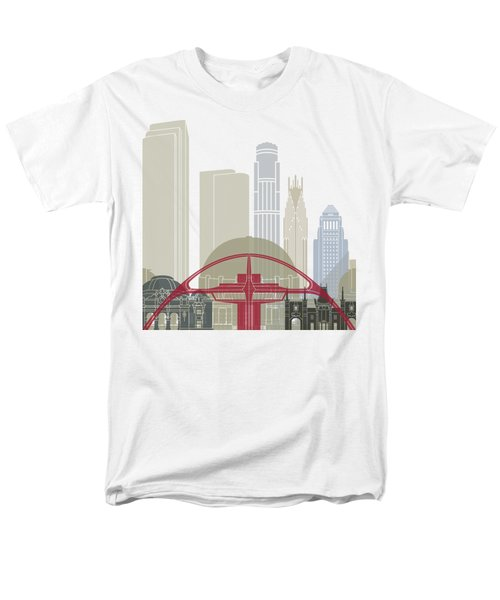 Los Angeles Skyline Poster Men's T-Shirt  (Regular Fit) by Pablo Romero