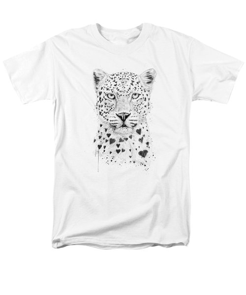 Lovely Leopard Men's T-Shirt  (Regular Fit) by Balazs Solti