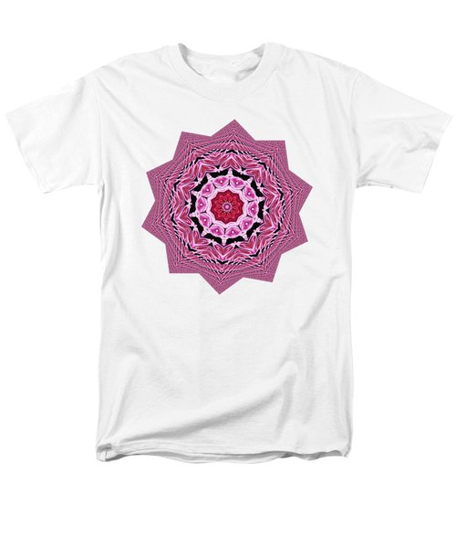 Loving Rose Mandala By Kaye Menner Men's T-Shirt  (Regular Fit) by Kaye Menner