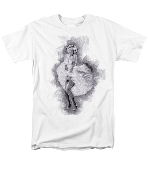 Marilyn Monroe Portrait 03 Men's T-Shirt  (Regular Fit) by Pablo Romero