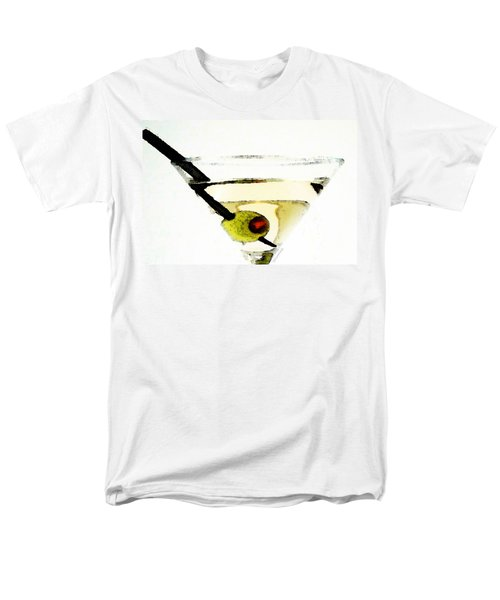 Martini With Green Olive Men's T-Shirt  (Regular Fit) by Sharon Cummings