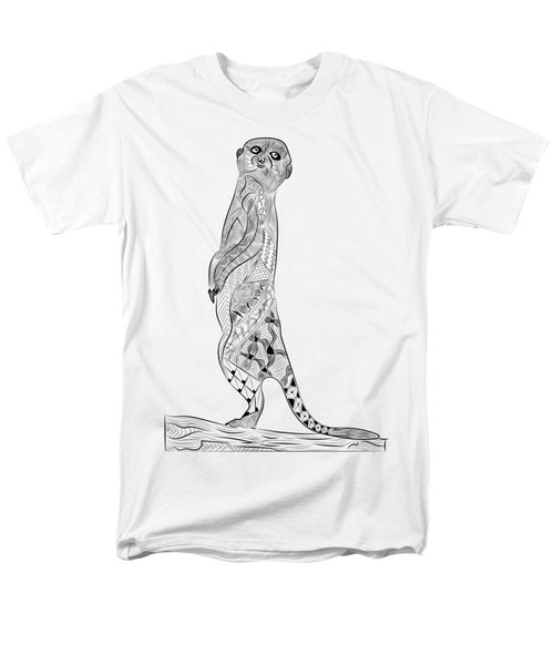 Meerkat Men's T-Shirt  (Regular Fit) by Serkes Panda