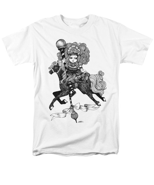 Merry-go-round Girl Men's T-Shirt  (Regular Fit) by Akiko Okabe