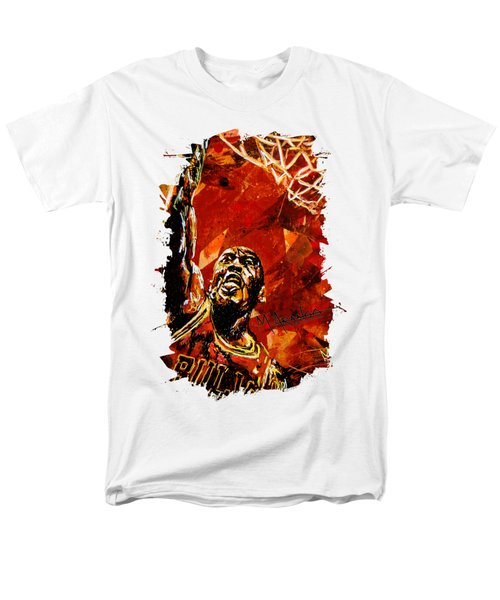 Michael Jordan Men's T-Shirt  (Regular Fit) by Maria Arango
