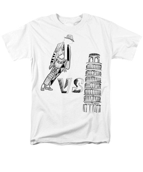 Mj Vs Pisa Men's T-Shirt  (Regular Fit) by Serkes Panda