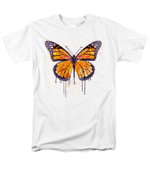 Monarch Butterfly Watercolor Men's T-Shirt  (Regular Fit) by Marian Voicu