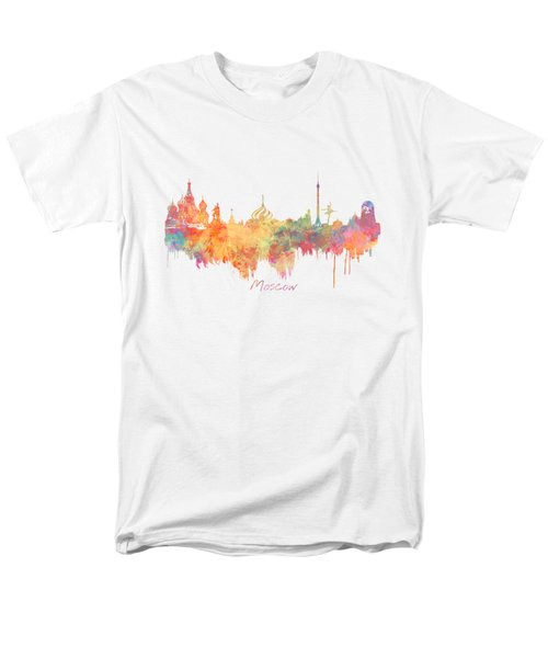 Moscow Russia Skyline City Men's T-Shirt  (Regular Fit) by Justyna JBJart