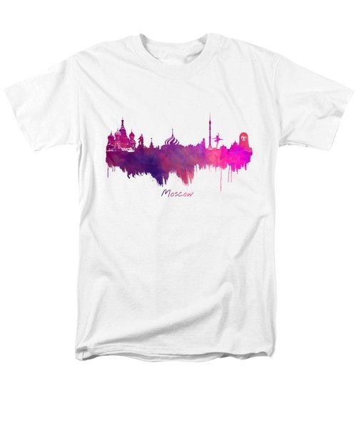 Moscow Russia Skyline Purple Men's T-Shirt  (Regular Fit) by Justyna JBJart
