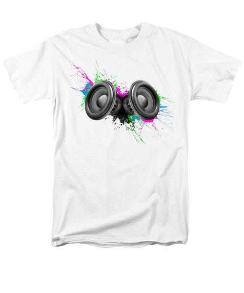 Music Speakers Colorful Design Men's T-Shirt  (Regular Fit) by Johan Swanepoel