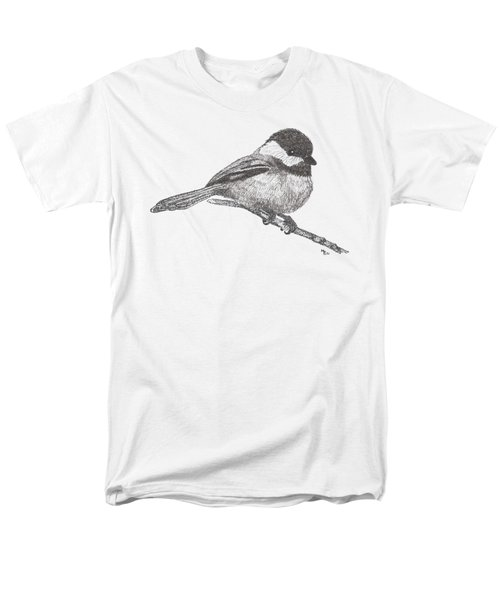 My Little Chickadee-dee-dee Men's T-Shirt  (Regular Fit) by Mary-Ellen Arsenault