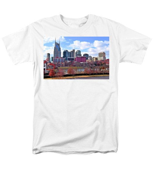 Nashville On The Riverfront Men's T-Shirt  (Regular Fit) by Frozen in Time Fine Art Photography