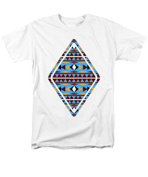 Navajo Blue Pattern Art Men's T-Shirt  (Regular Fit) by Christina Rollo