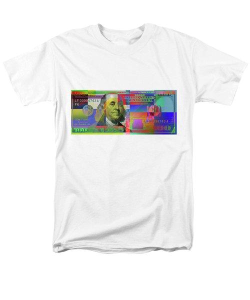 2009 Series Pop Art Colorized U. S. One Hundred Dollar Bill  V.3.0 Men's T-Shirt  (Regular Fit) by Serge Averbukh
