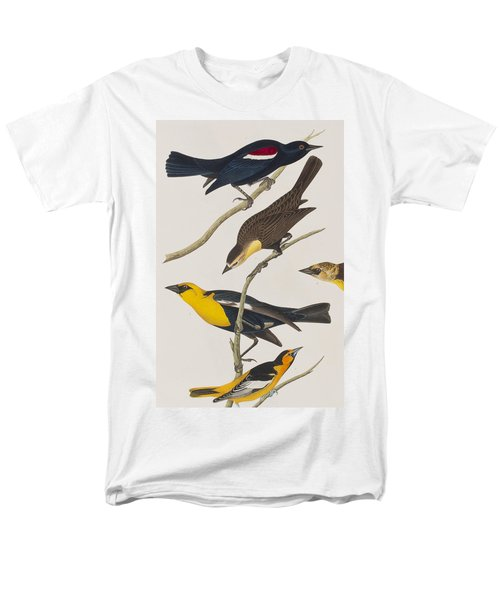 Nuttall's Starling Yellow-headed Troopial Bullock's Oriole Men's T-Shirt  (Regular Fit) by John James Audubon