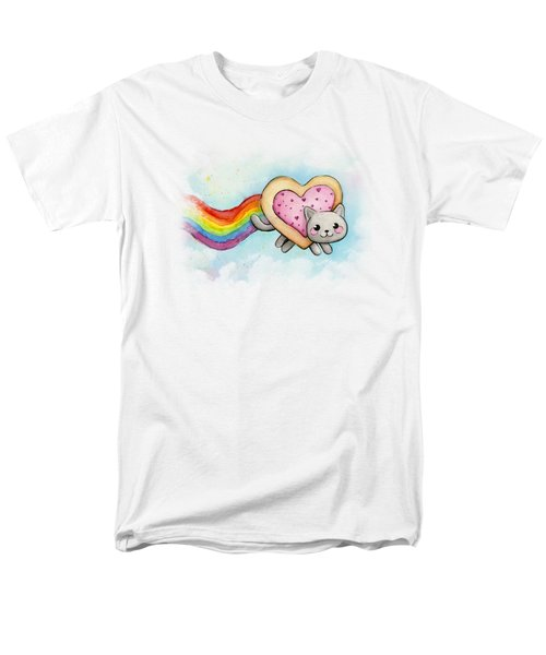 Nyan Cat Valentine Heart Men's T-Shirt  (Regular Fit) by Olga Shvartsur