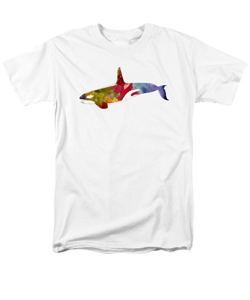 Orca - Killer Whale Drawing Men's T-Shirt  (Regular Fit) by World Art Prints And Designs