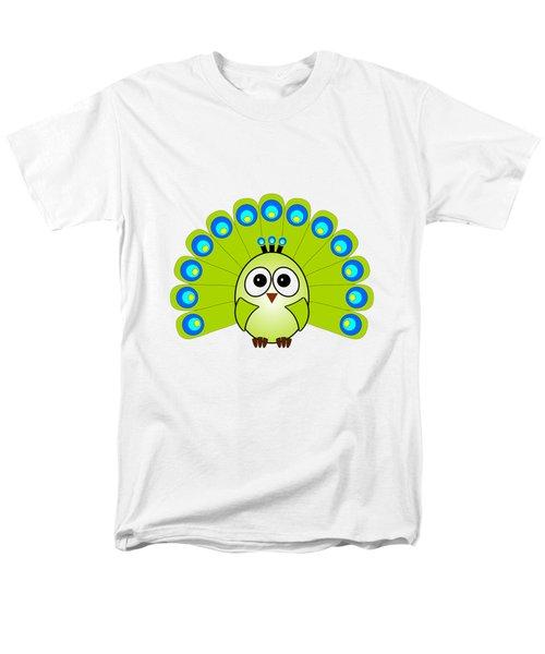 Peacock  - Birds - Art For Kids Men's T-Shirt  (Regular Fit) by Anastasiya Malakhova