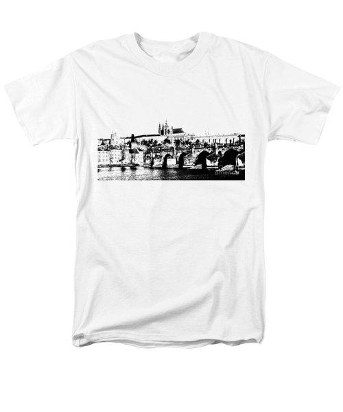 Prague castle and Charles bridge T-Shirt by Michal Boubin