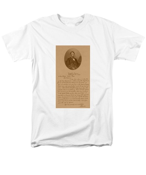 President Lincoln's Letter To Mrs. Bixby T-Shirt by War Is Hell Store