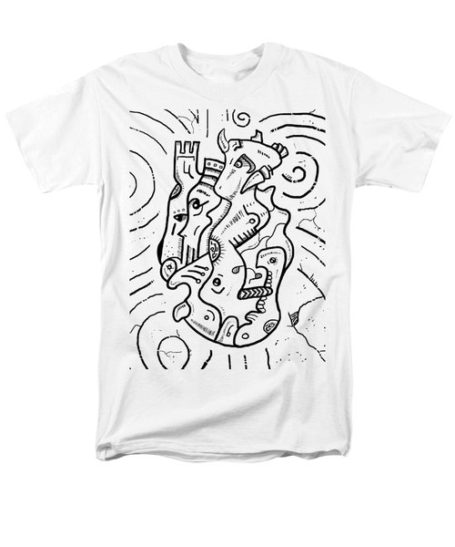 Psychedelic Animals Men's T-Shirt  (Regular Fit) by Sotuland Art