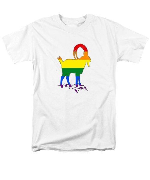 Rainbow Ibex Men's T-Shirt  (Regular Fit) by Mordax Furittus