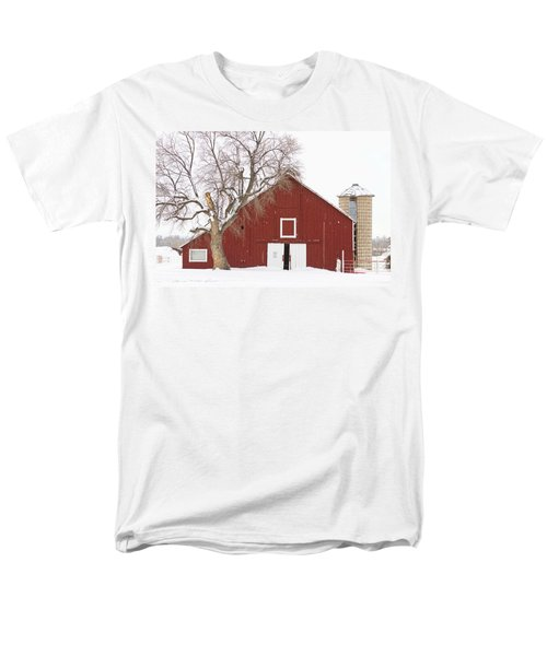 Red Barn Winter Country Landscape T-Shirt by James BO  Insogna