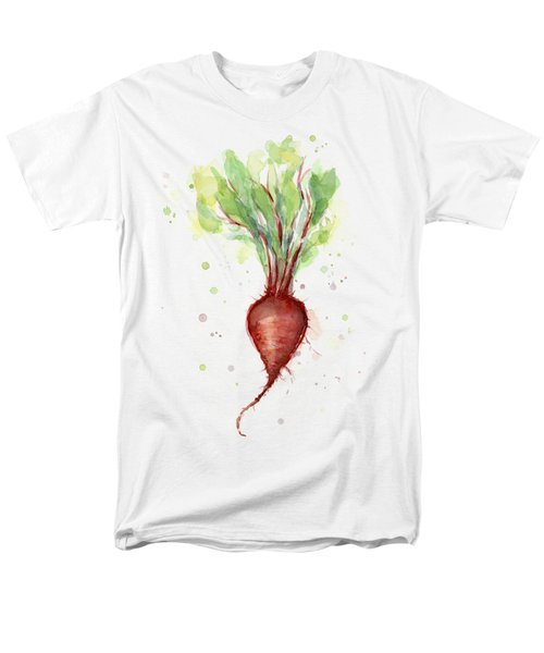 Red Beet Watercolor Men's T-Shirt  (Regular Fit) by Olga Shvartsur