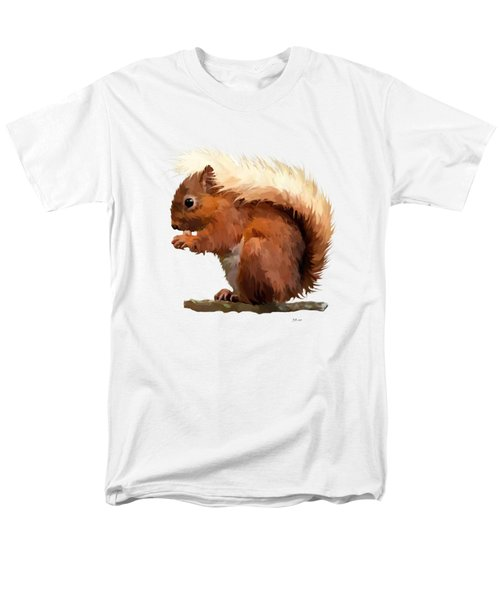Red Squirrel Men's T-Shirt  (Regular Fit) by Bamalam  Photography