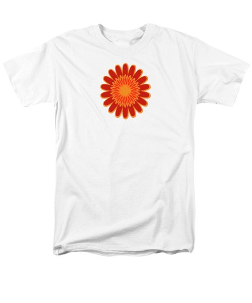 Red Sunflower Pattern Men's T-Shirt  (Regular Fit) by Methune Hively