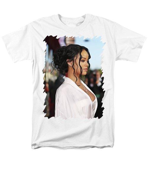 Rihanna Men's T-Shirt  (Regular Fit) by Twinkle Mehta