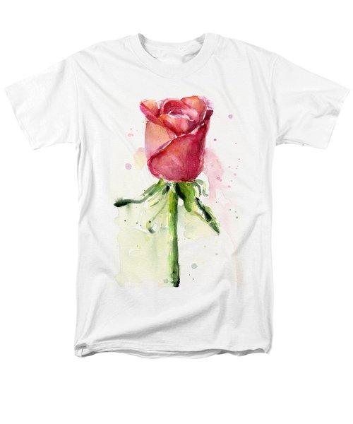 Rose Watercolor Men's T-Shirt  (Regular Fit) by Olga Shvartsur