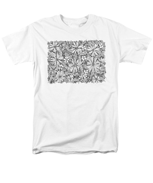 Sea Of Flowers And Seeds At Night Horizontal Men's T-Shirt  (Regular Fit) by Tamara Kulish