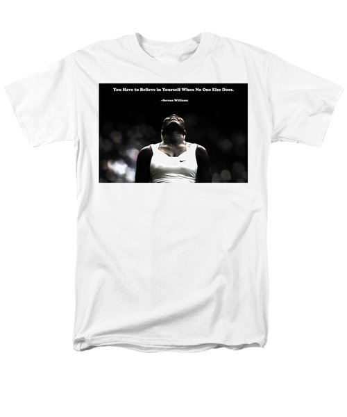 Serena Williams Quote 2a Men's T-Shirt  (Regular Fit) by Brian Reaves