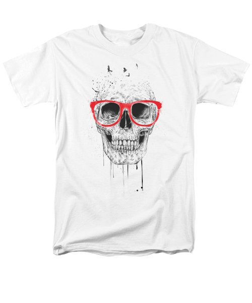 Skull With Red Glasses Men's T-Shirt  (Regular Fit) by Balazs Solti