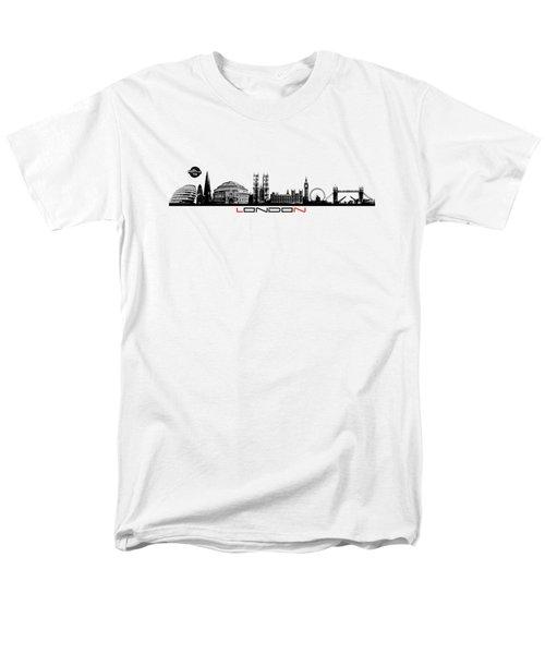 skyline city London black Men's T-Shirt  (Regular Fit) by Justyna JBJart