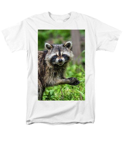 Smiling Raccoon Men's T-Shirt  (Regular Fit) by Paul Freidlund