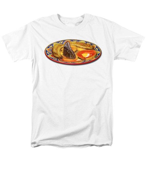 Snacking Butterfly Men's T-Shirt  (Regular Fit) by Bob Slitzan